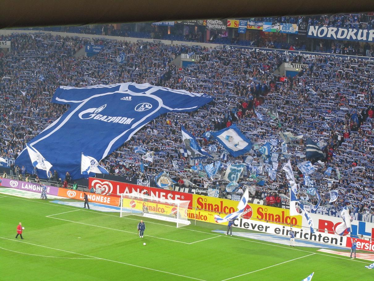 Nordkurve in der Schalke-Arena