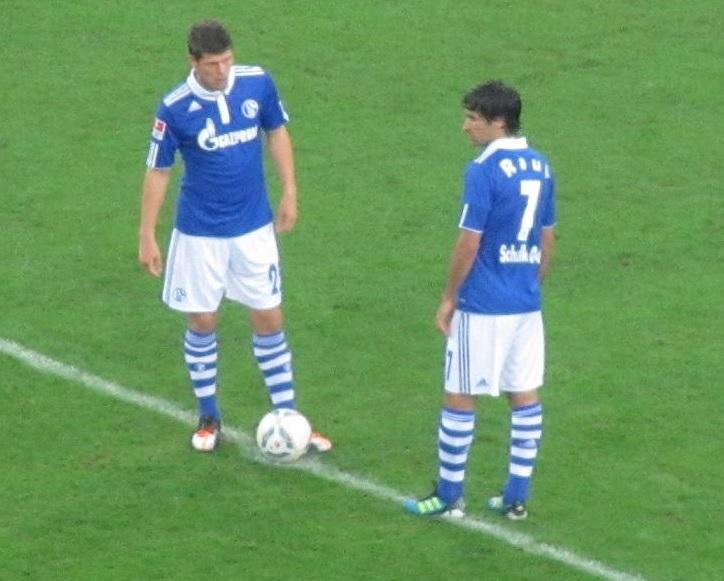 Raul und Klaas-Jan Huntelaar Auf Schalke
