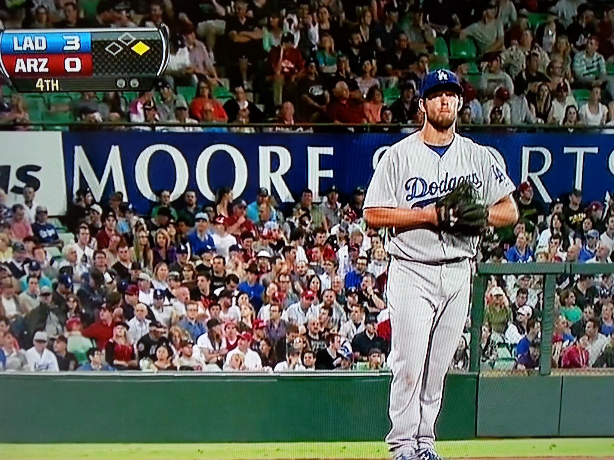 Pitcher Clayton Kershaw von den Los Angeles Dodgers