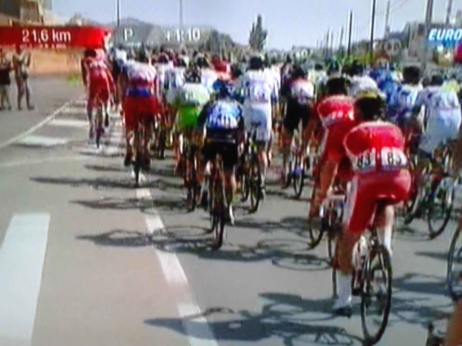 Peloton bei der Vuelta a Espana